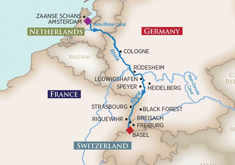 Captivating Rhine: Amsterdam Basel WINE CRUISES 2020