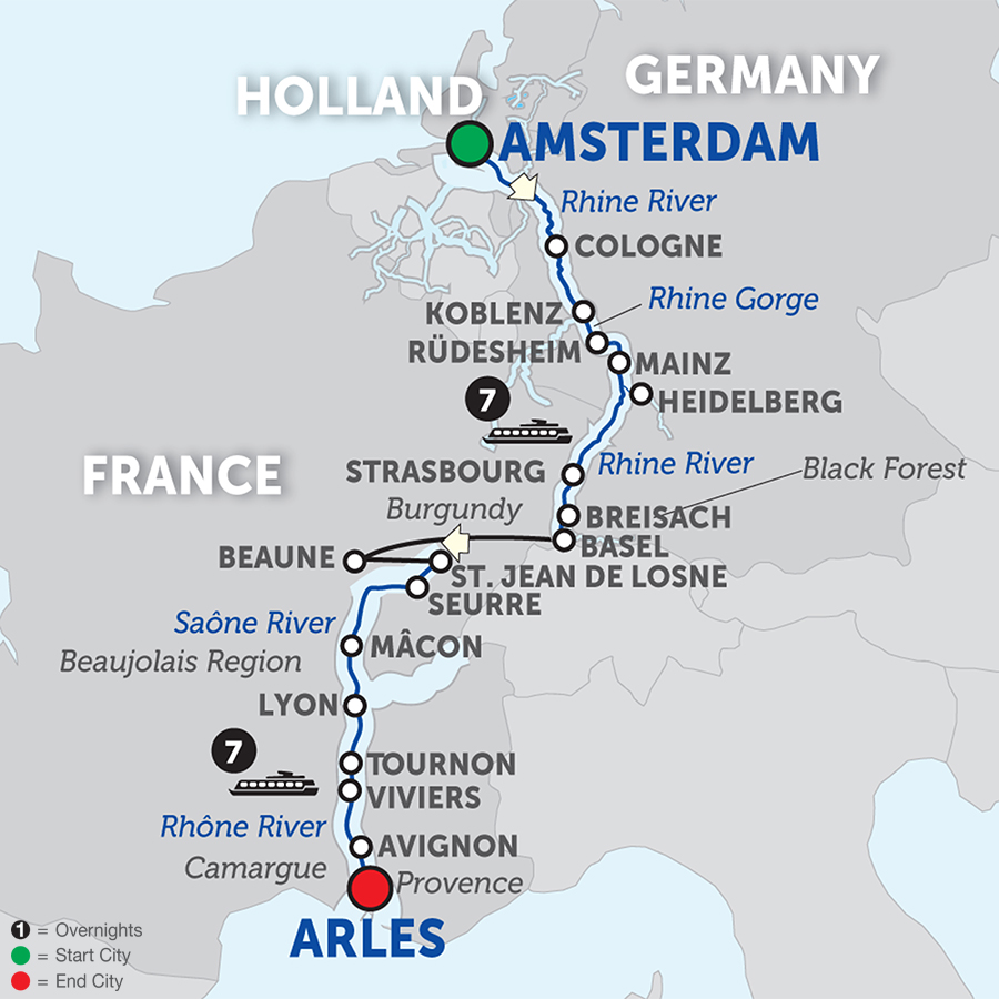 Rhine & Rhône Revealed - Cruise Only Southbound 2018