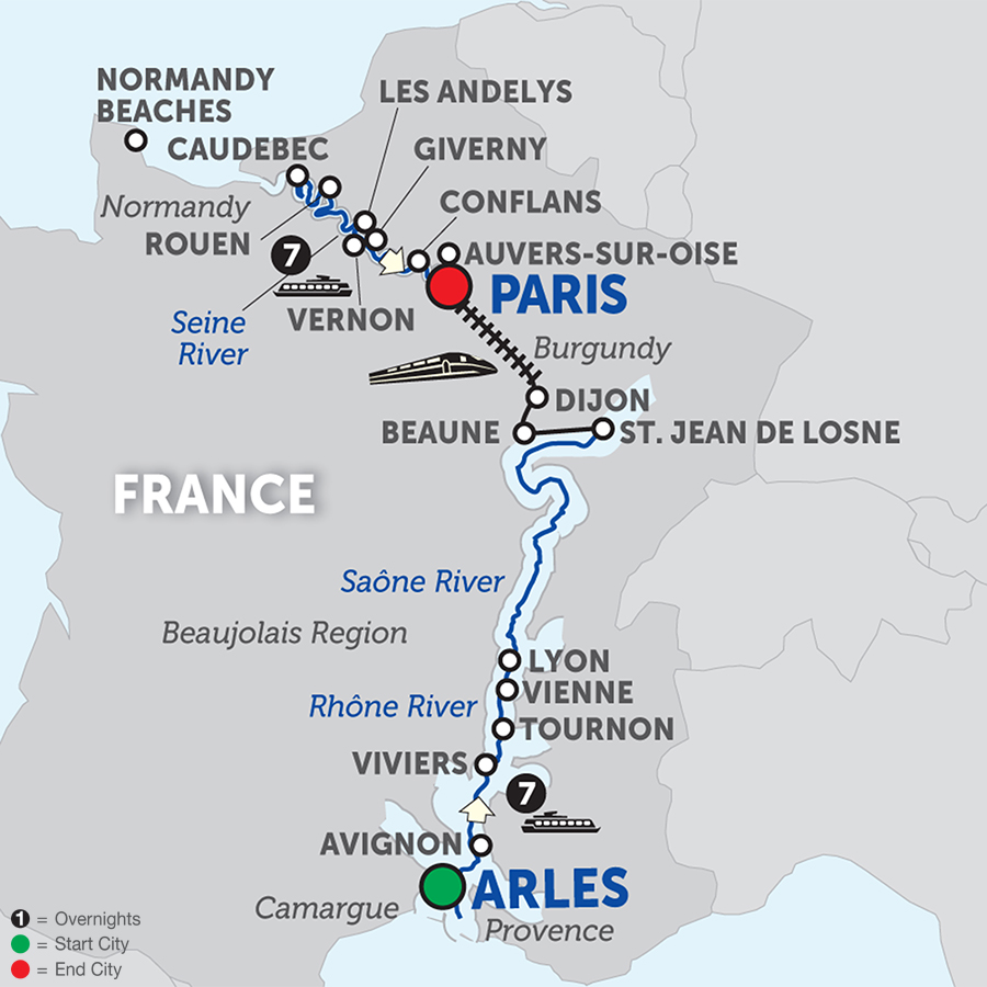 Grand France – Cruise Only Northbound 2018