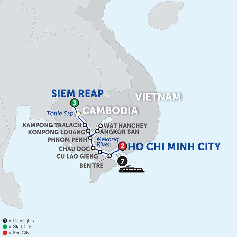 Fascinating Vietnam, Cambodia & The Mekong River - Southbound 2018
