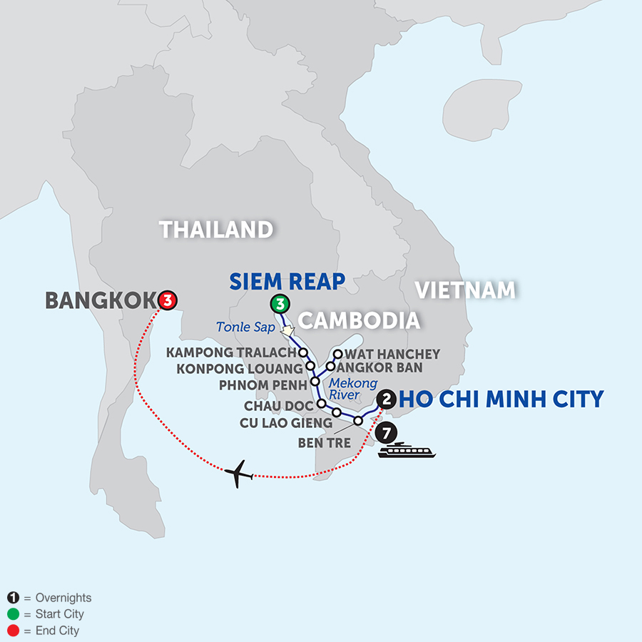 Fascinating Vietnam, Cambodia & The Mekong River With Bangkok – Southbound 2018
