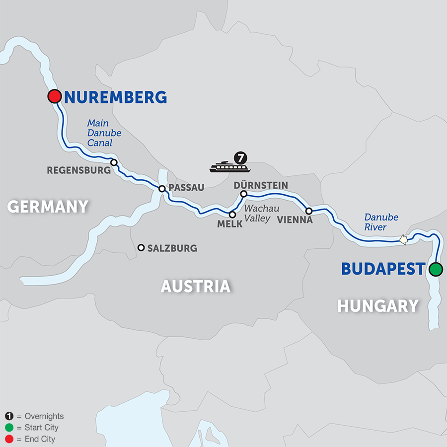 The Blue Danube Discovery - Cruise Only 2018