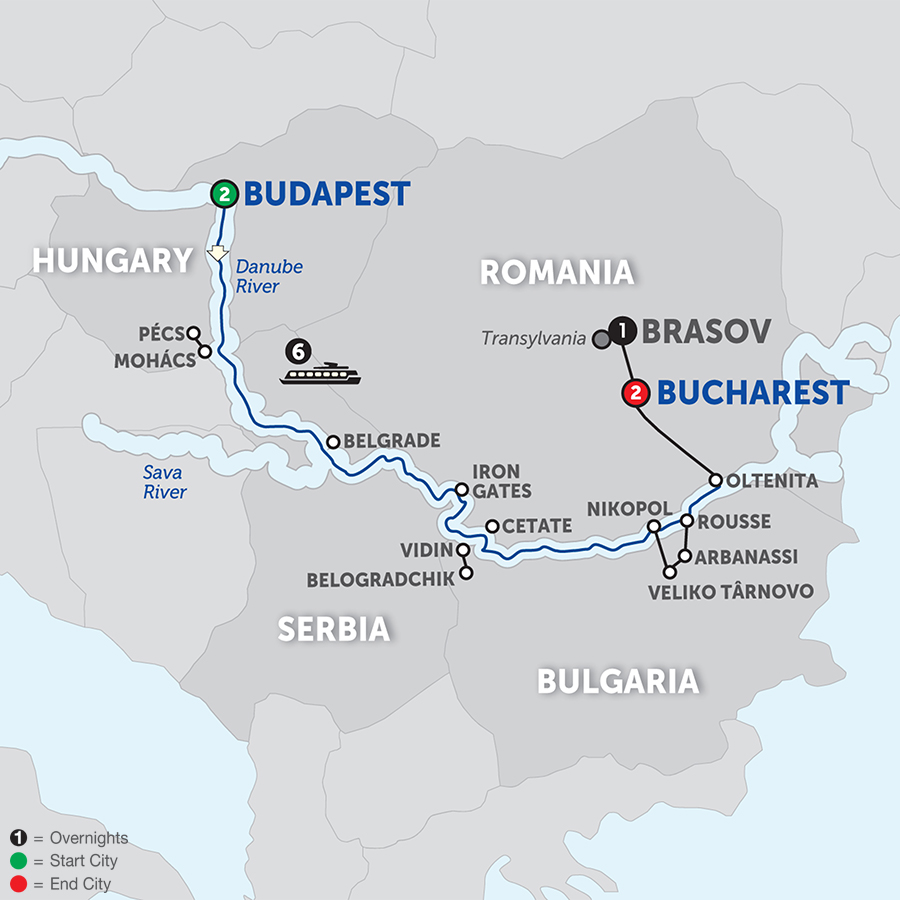Balkan Discovery With Transylvania - Eastbound 2018