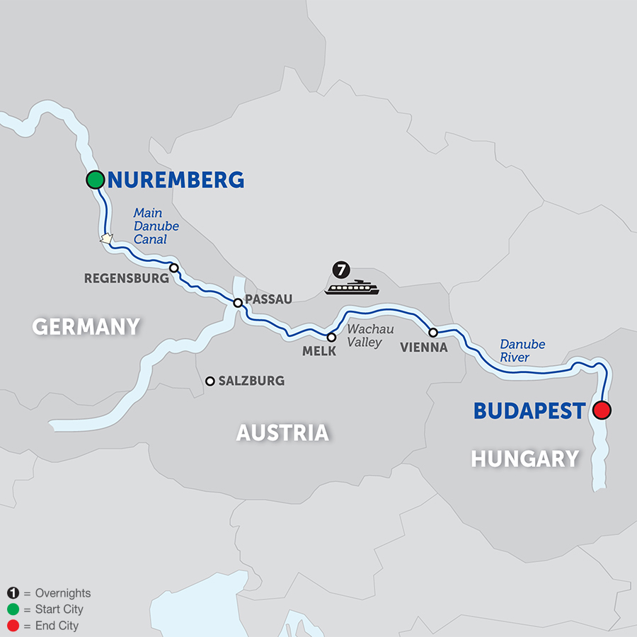 The Legendary Danube - Cruise Only 2018