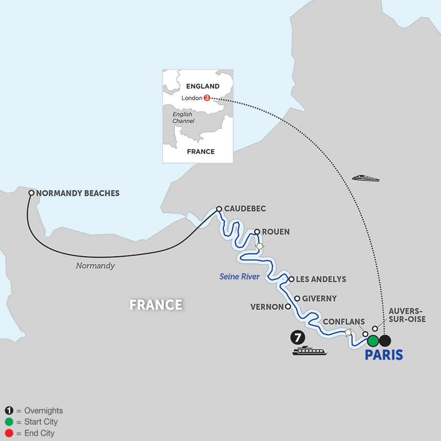 Paris To Normandy With London 2018