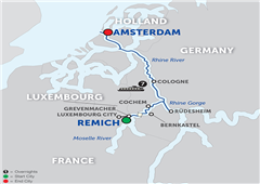 Canals, Vineyards & Paris - Cruise Only Northbound 2018