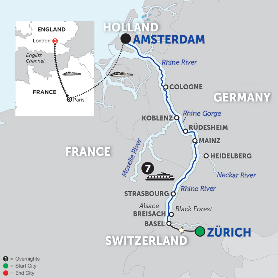 Romantic Rhine With Paris & London Extension – Northbound 2018