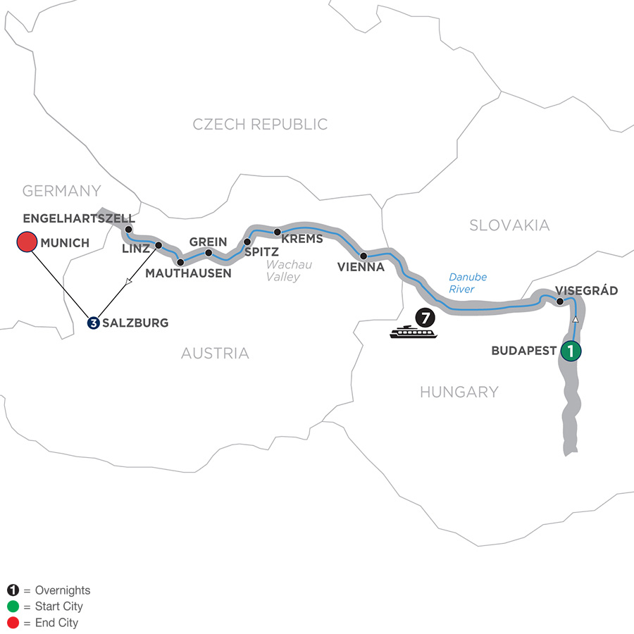 Active Discovery On The Danube With 2 Nights Salzburg Area & 1 Night Munich – Westbound 2019