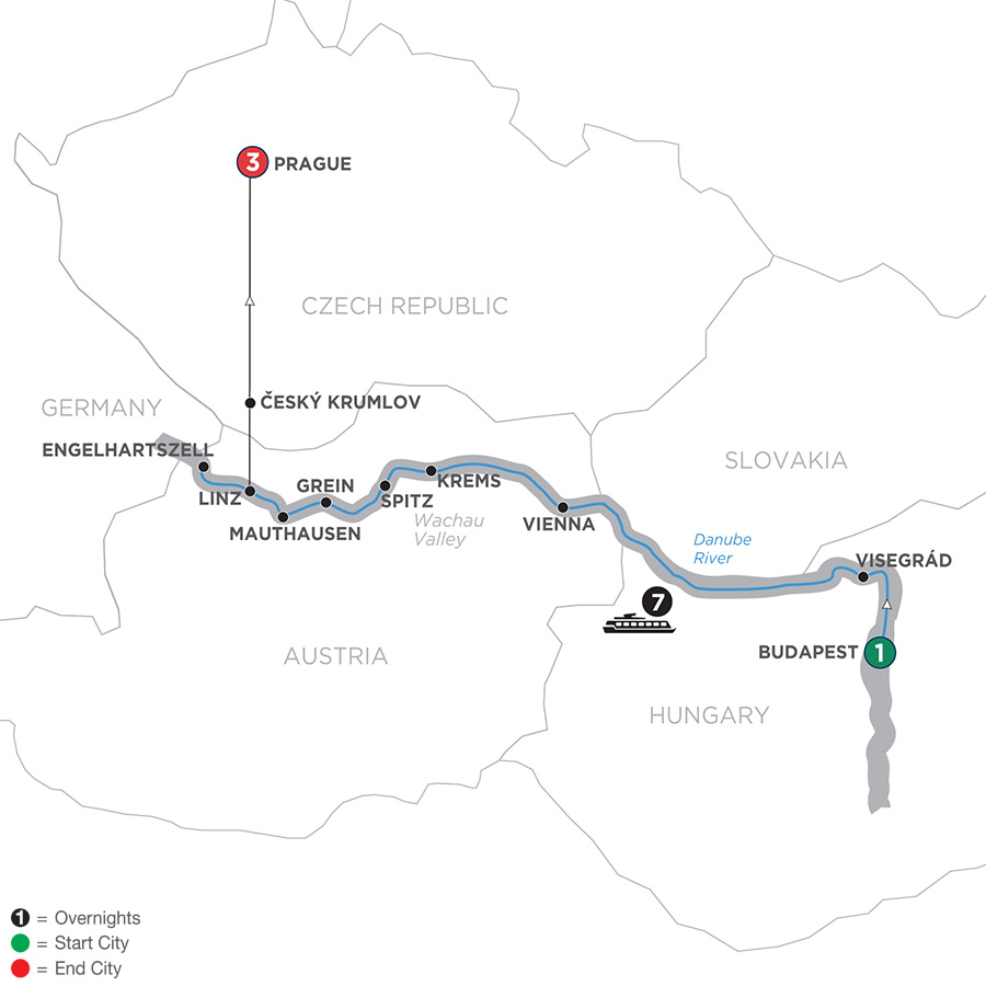 Active Discovery On The Danube With 3 Nights Prague – Westbound 2019