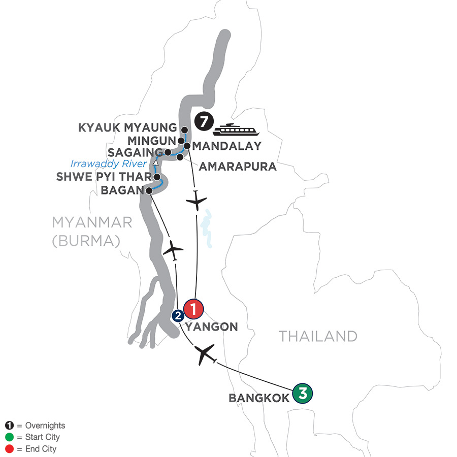 Burmese Days: Along The Irrawaddy River With Bangkok – Northbound 2019