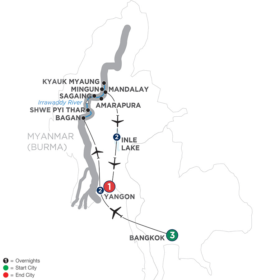 Burmese Days: Along The Irrawaddy River With Bangkok & Inle Lake – Northbound 2019