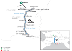 Burgundy & Provence With 2 Nights Aix-En-Provence & 2 Nights Nice – Southbound 2019