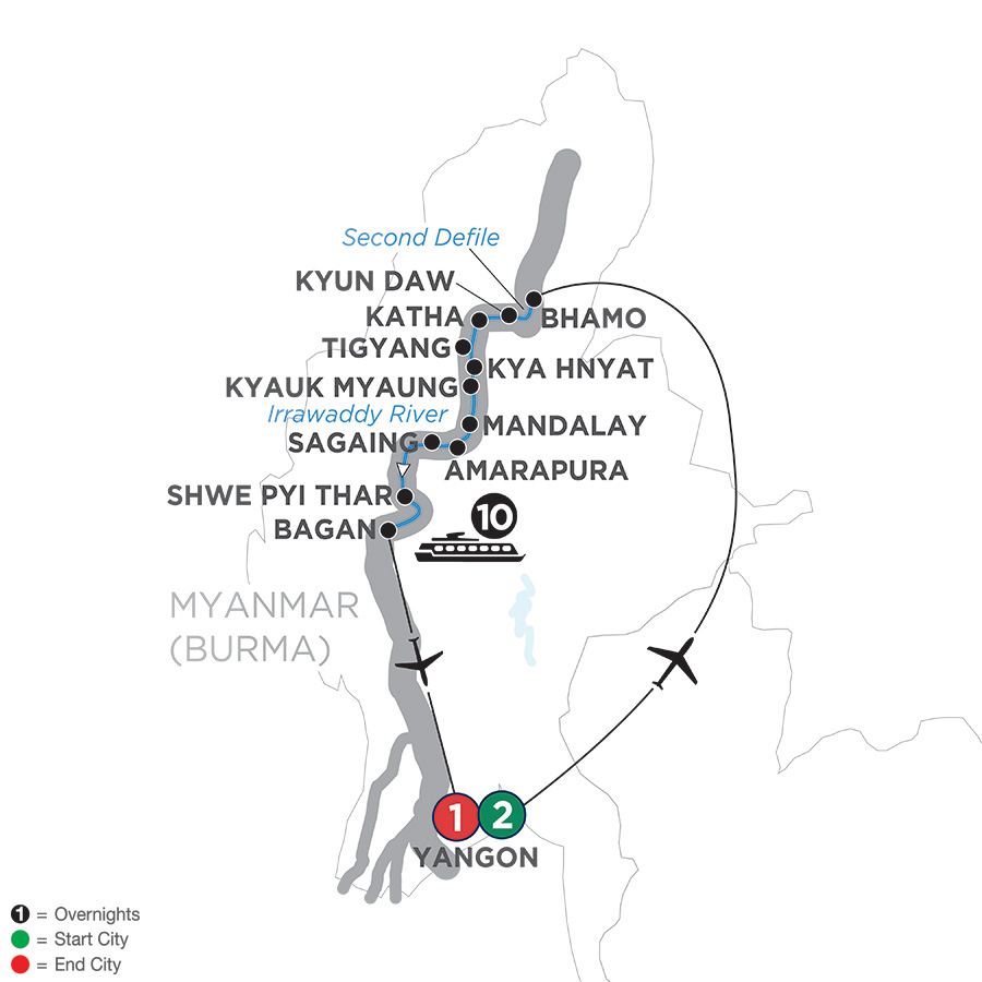 Golden Myanmar & The Alluring Irrawaddy – Southbound 2019