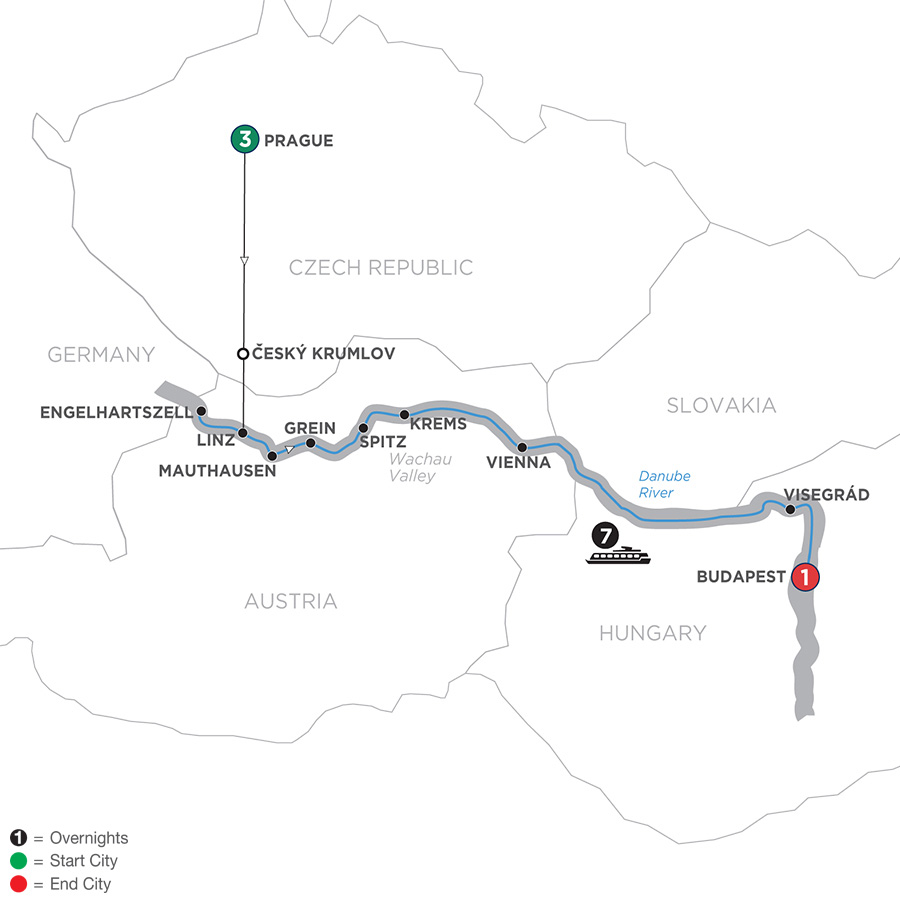 Active Discovery On The Danube With 3 Nights Prague – Eastbound 2019