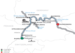 Christmastime From Basel To Prague – Cruise Only 2019