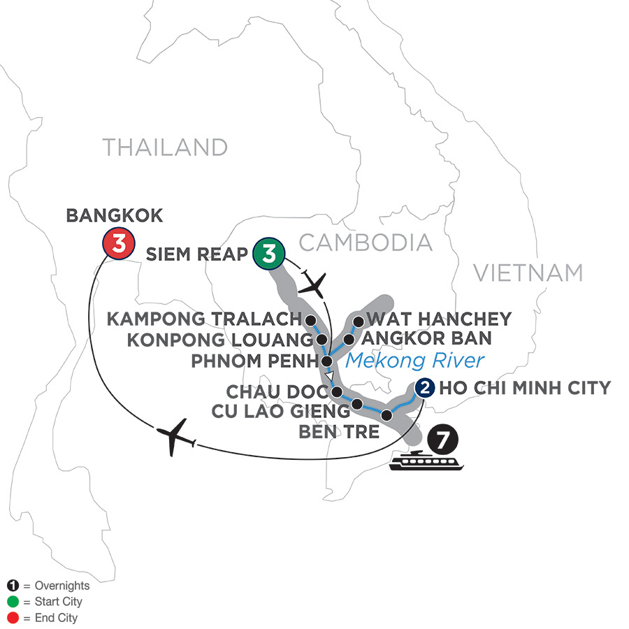 Fascinating Vietnam, Cambodia & The Mekong River With Bangkok – Southbound 2019
