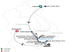 Fascinating Vietnam, Cambodia & The Mekong River With Hanoi, Ha Long Bay & Bangkok – Southbound 2019