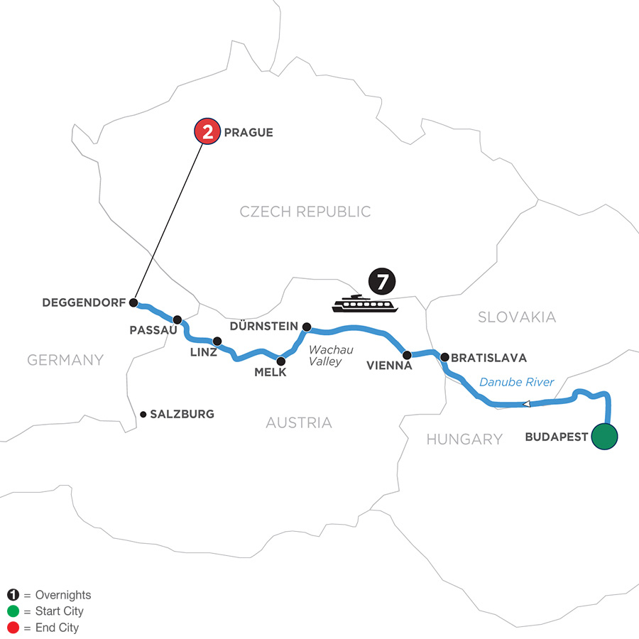 Danube Dreams With 2 Nights In Prague (Westbound) 2020