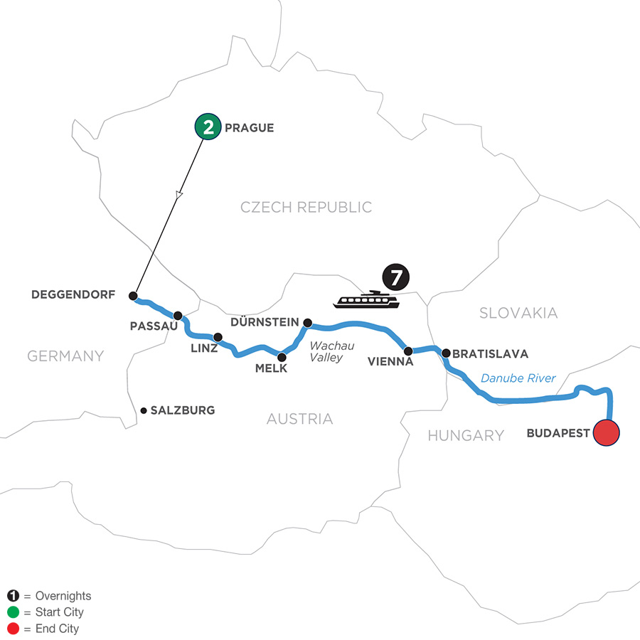 Danube Dreams With 2 Nights In Prague (Eastbound) 2020