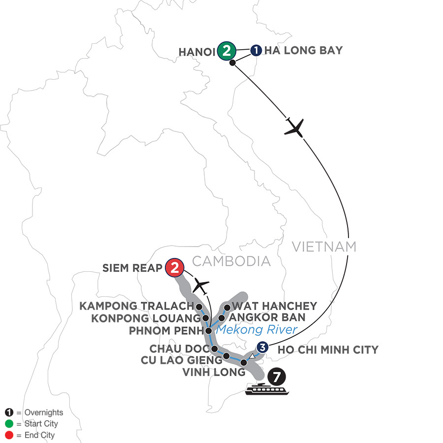 Fascinating Vietnam, Cambodia & The Mekong River With Hanoi & Ha Long Bay (Northbound) 2020