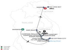 The Heart Of Cambodia & Vietnam With Bangkok (Northbound) 2020