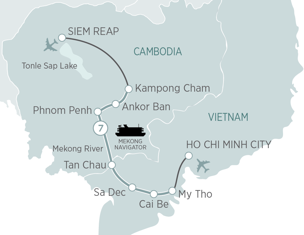 Magnificent Mekong Cruise Ho Chi Minh City to Siem Reap 2019