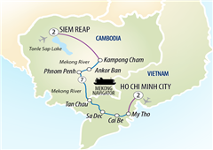 Mekong Discoverer Cruise Siem Reap to Ho Chi Minh City 2018