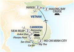 Highlights of Vietnam & Cambodia and Mekong Siem Reap to Hanoi 2018