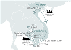 Highlights of Vietnam & Cambodia and Mekong Cruise Hanoi to Siem Reap 2019