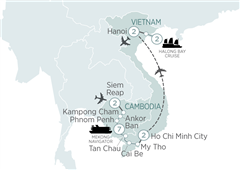 Highlights of Vietnam & Cambodia and Mekong Siem Reap to Hanoi 2019