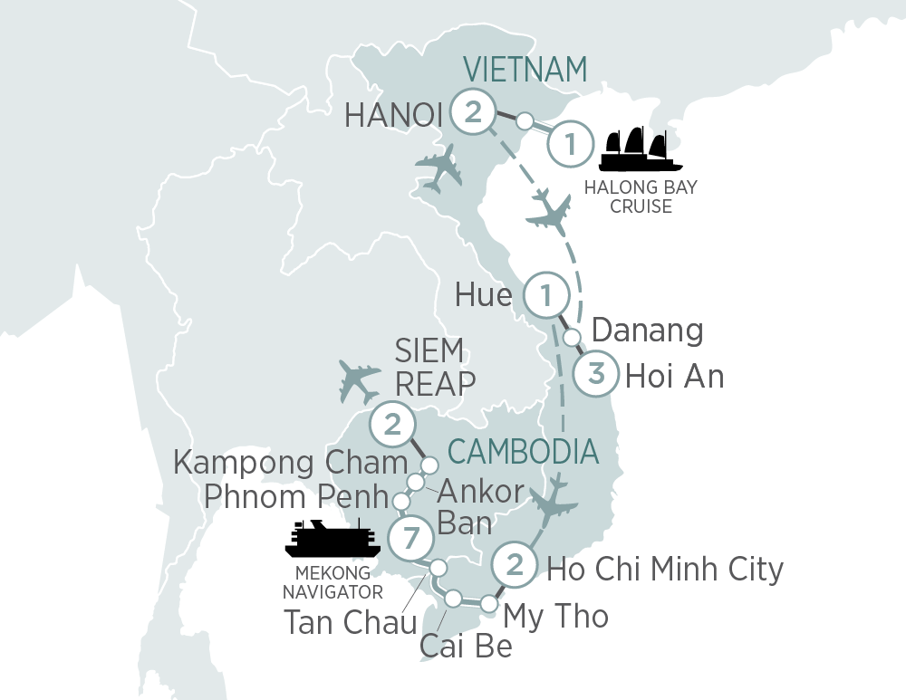 Vietnam & Cambodia Explorer and Mekong Cruise Hanoi to Siem Reap 2019