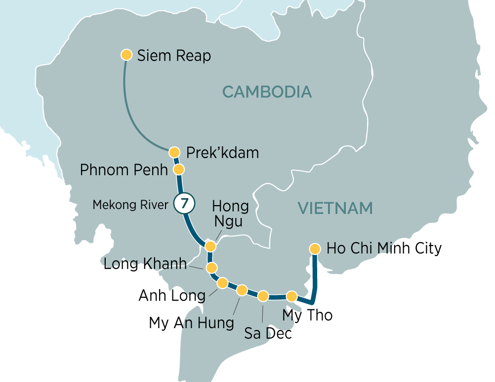 Majestic Mekong River Cruise Siem Reap to Ho Chi Minh City 2019