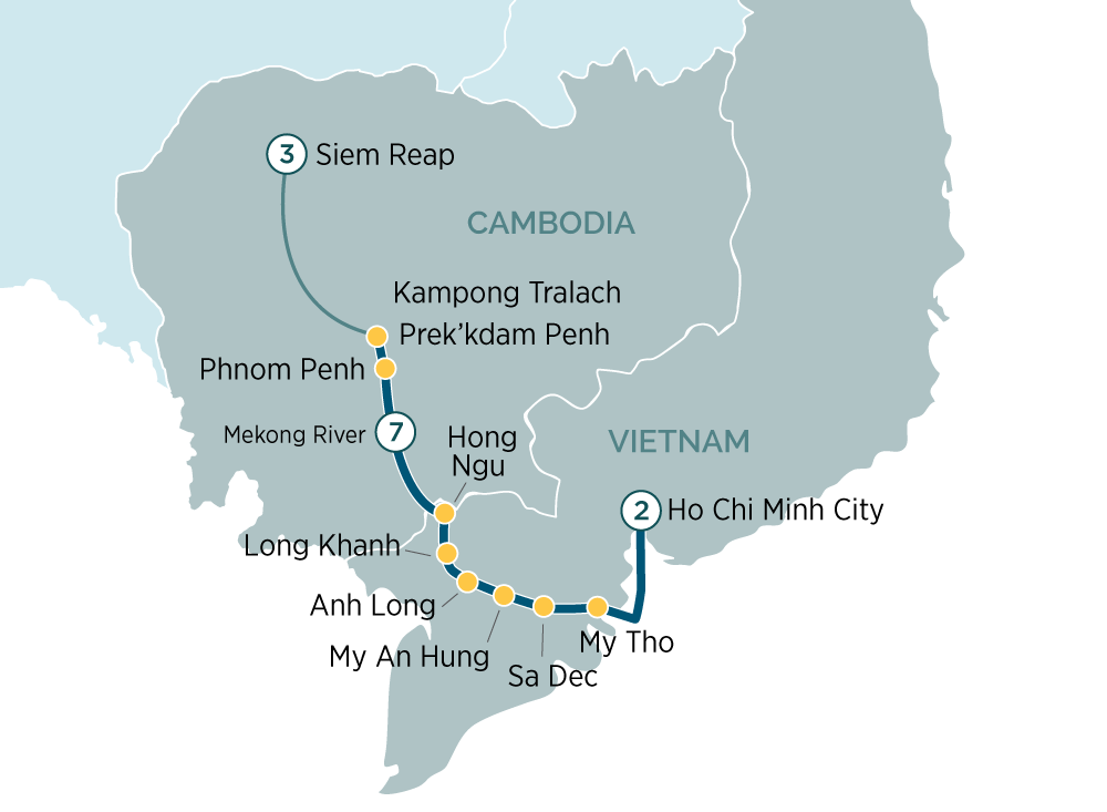 Majestic Mekong Discoverer Cruise Siem Reap to Ho Chi Minh City 2019