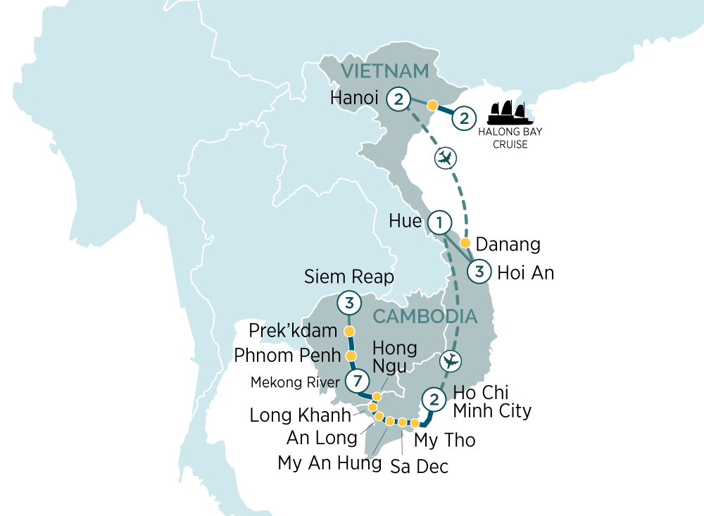 Grand Tour of Vietnam & Cambodia Hanoi to Siem Reap 2019