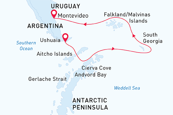 Antarctic Wildlife Adventure Ushuaia to Montevideo  2021