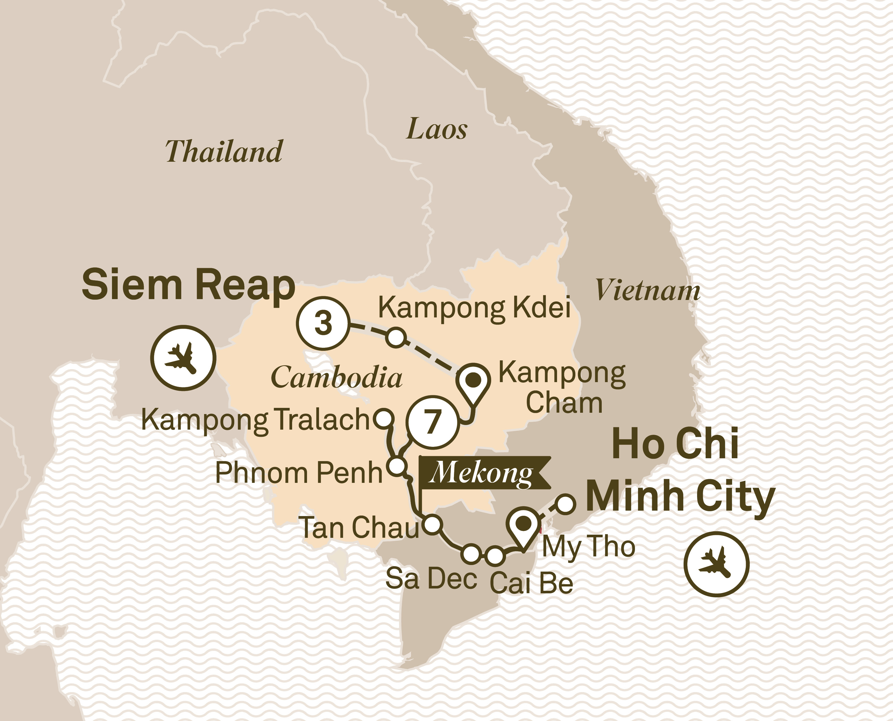 Luxury Mekong & Temple Discovery Cruise Siem Reap to Ho Chi Minh City 2018
