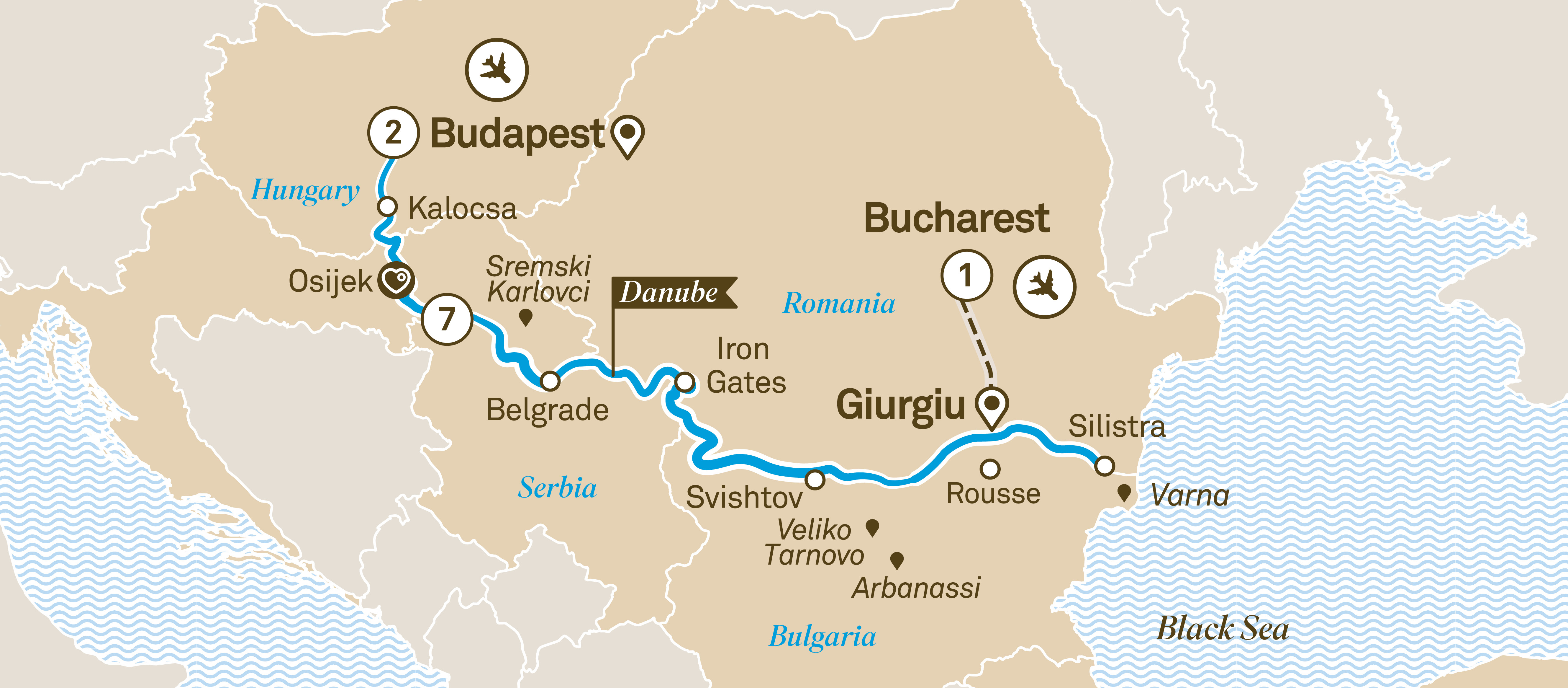 Black Sea Explorer Budapest to Bucharest 2019