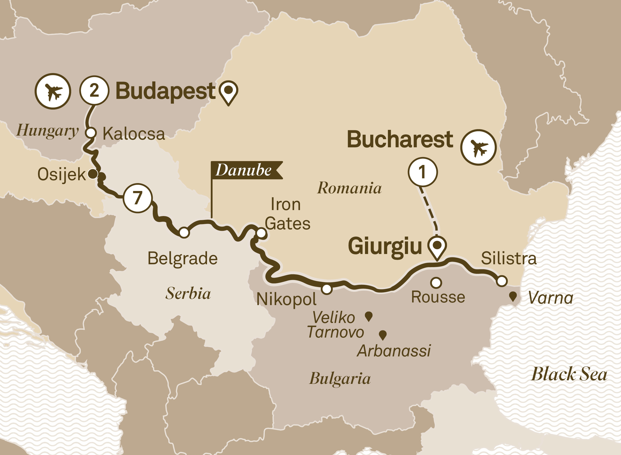 Black Sea Explorer Bucharest to Budapest 2019
