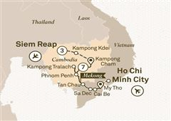 Luxury Mekong & Temple Discovery Cruise Ho Chi Minh City to Siem Reap 2018
