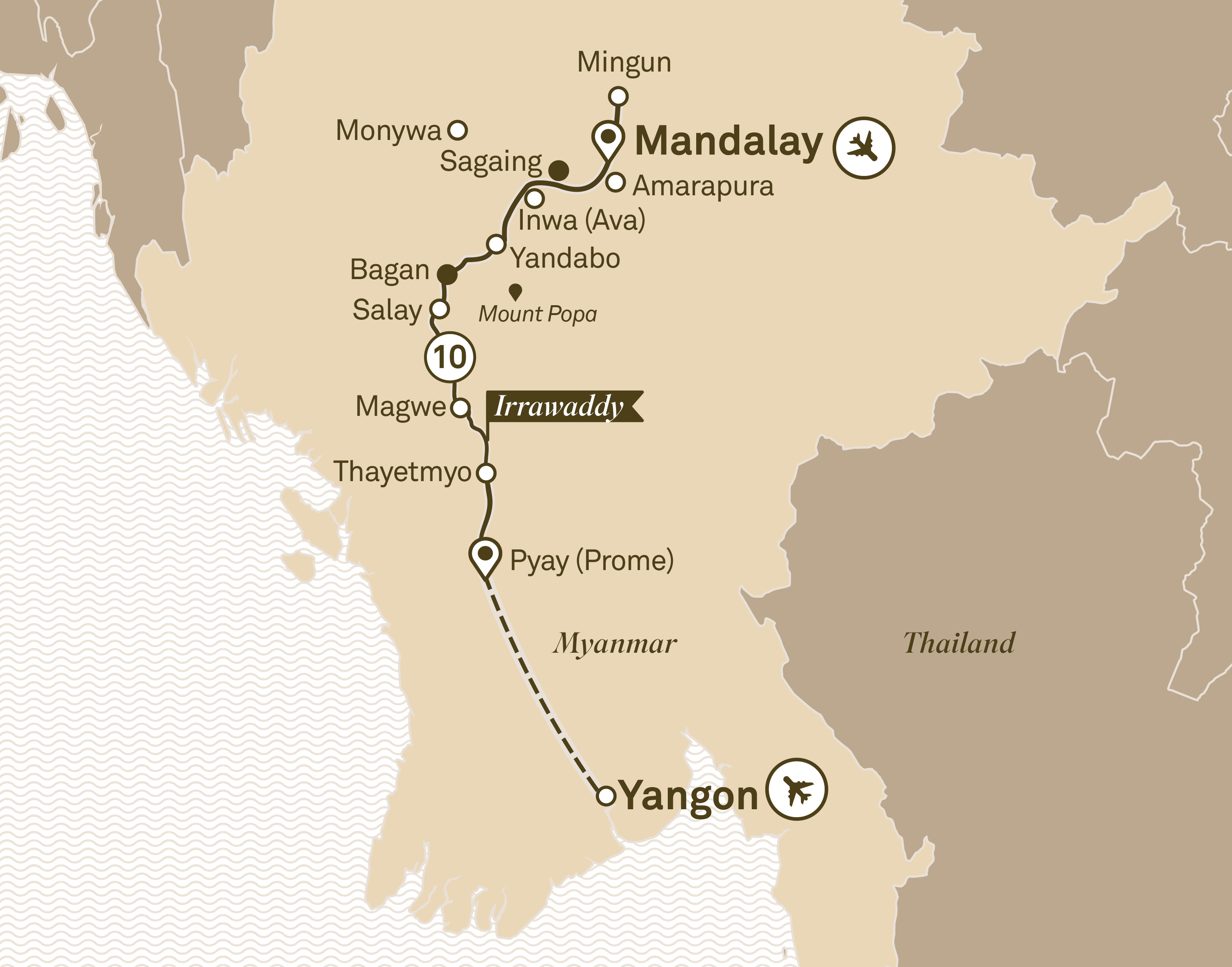 Luxury Irrawaddy Yangon to Mandalay 2018