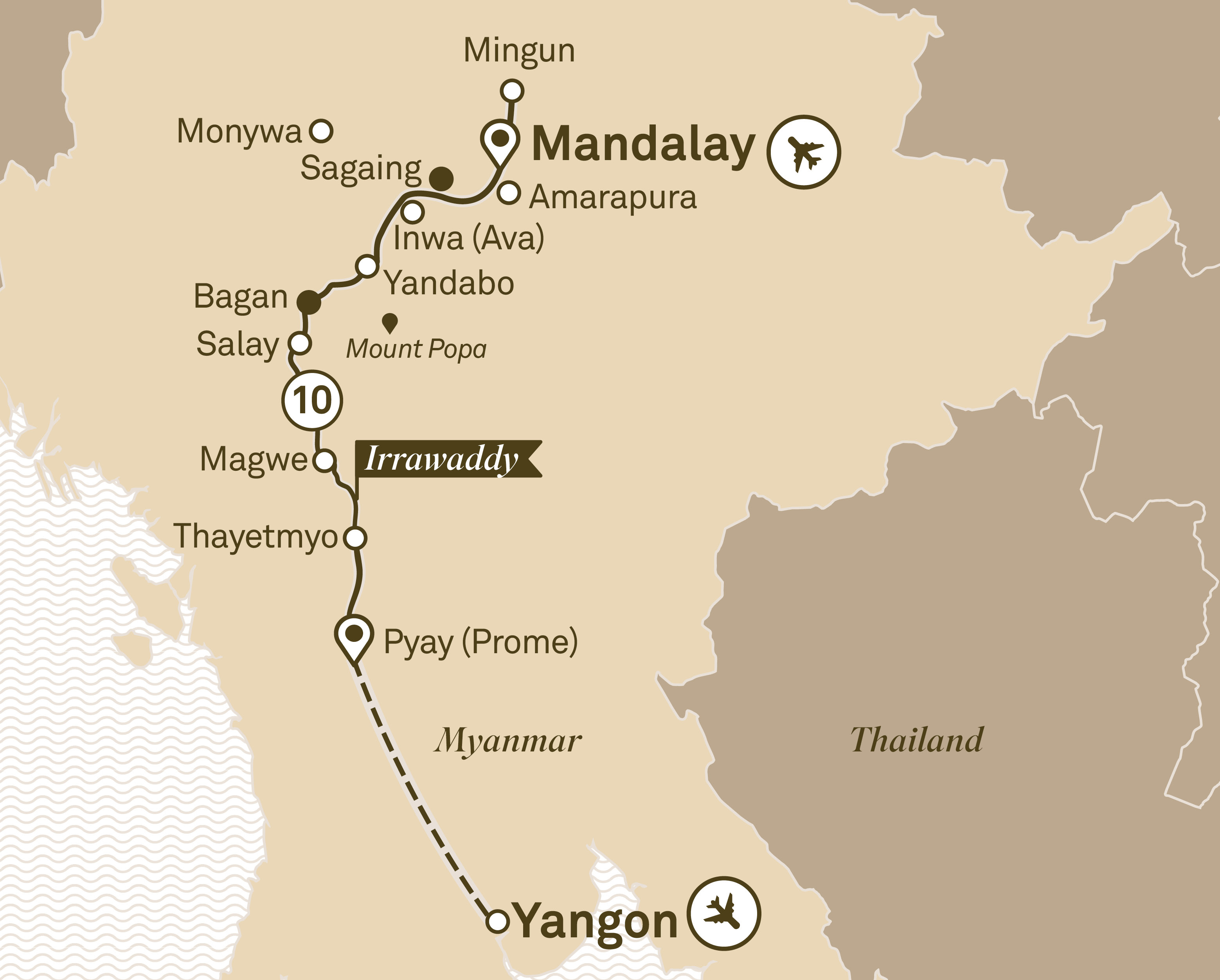 Luxury Irrawaddy Mandalay to Yangon 2018