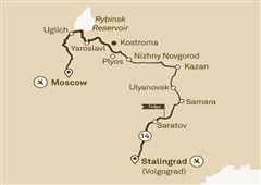 Imperial Russia Moscow to Stalingrad (Volgograd) 2018