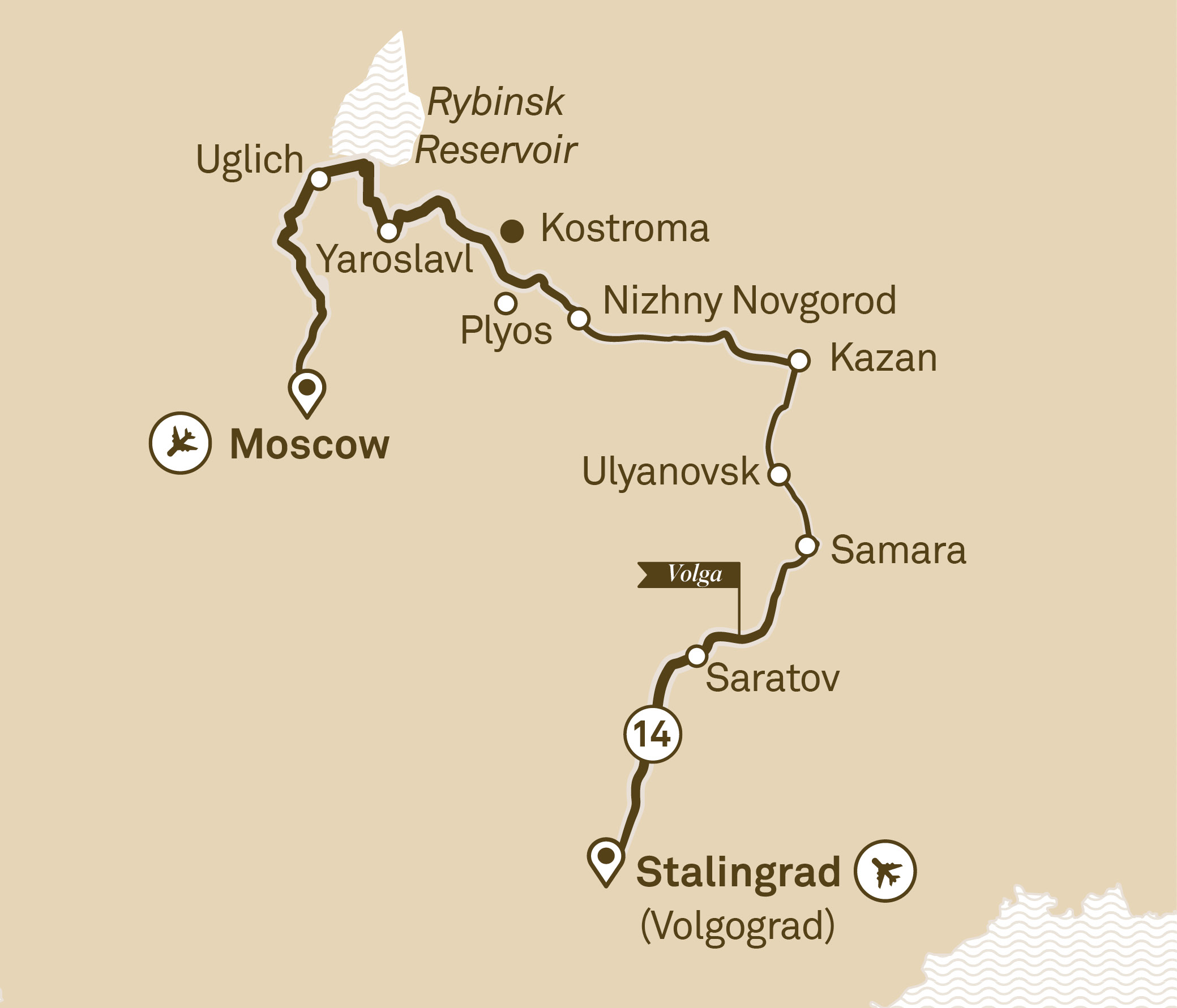 Imperial Russia Stalingrad (Volgograd) to Moscow 2018