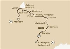 Imperial Russia Stalingrad (Volgograd) to Moscow 2019