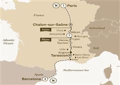 Enchanting Rhône with Barcelona Barcelona to Paris 2019