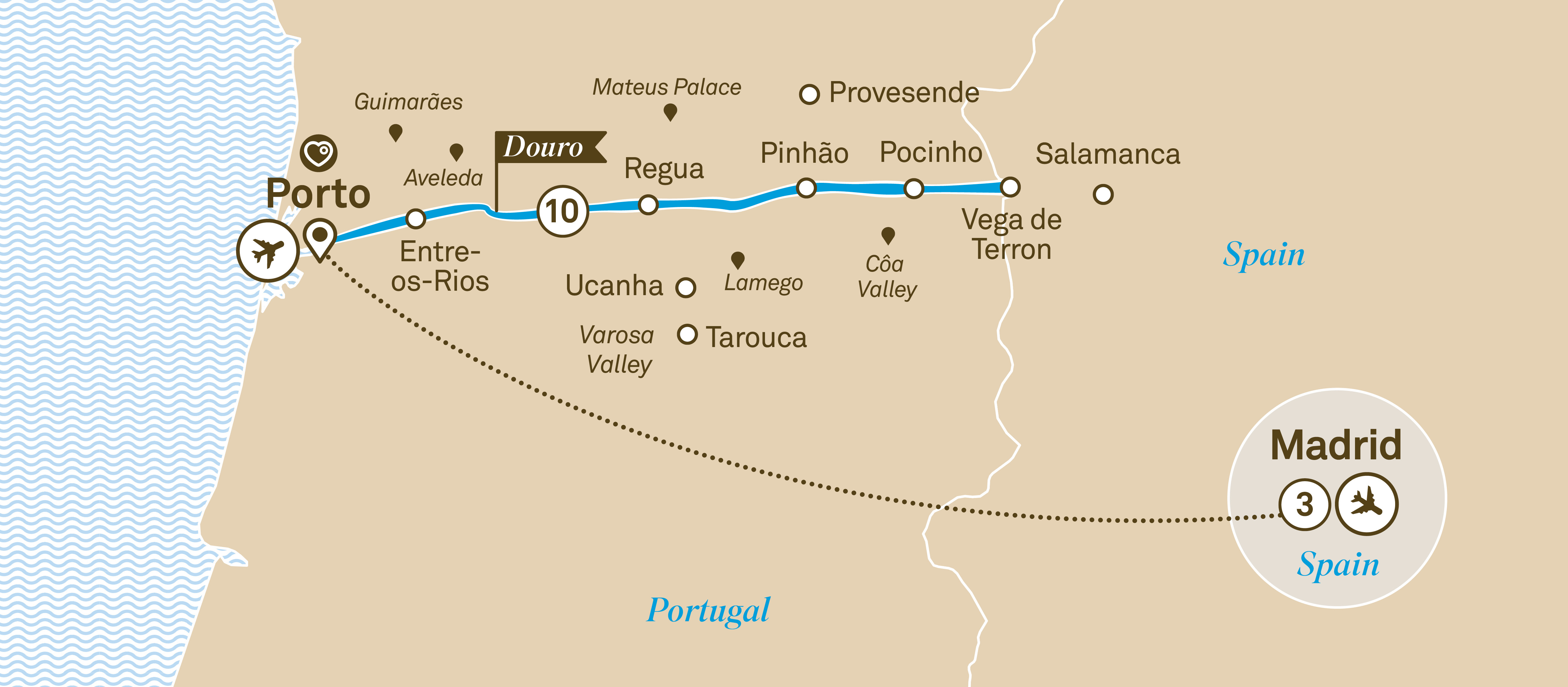 Unforgettable Douro with Madrid Porto to Madrid 2019