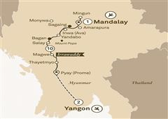 Mystical Irrawaddy Mandalay to Yangon 2018