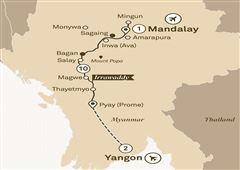 Mystical Irrawaddy Yangon to Mandalay 2018