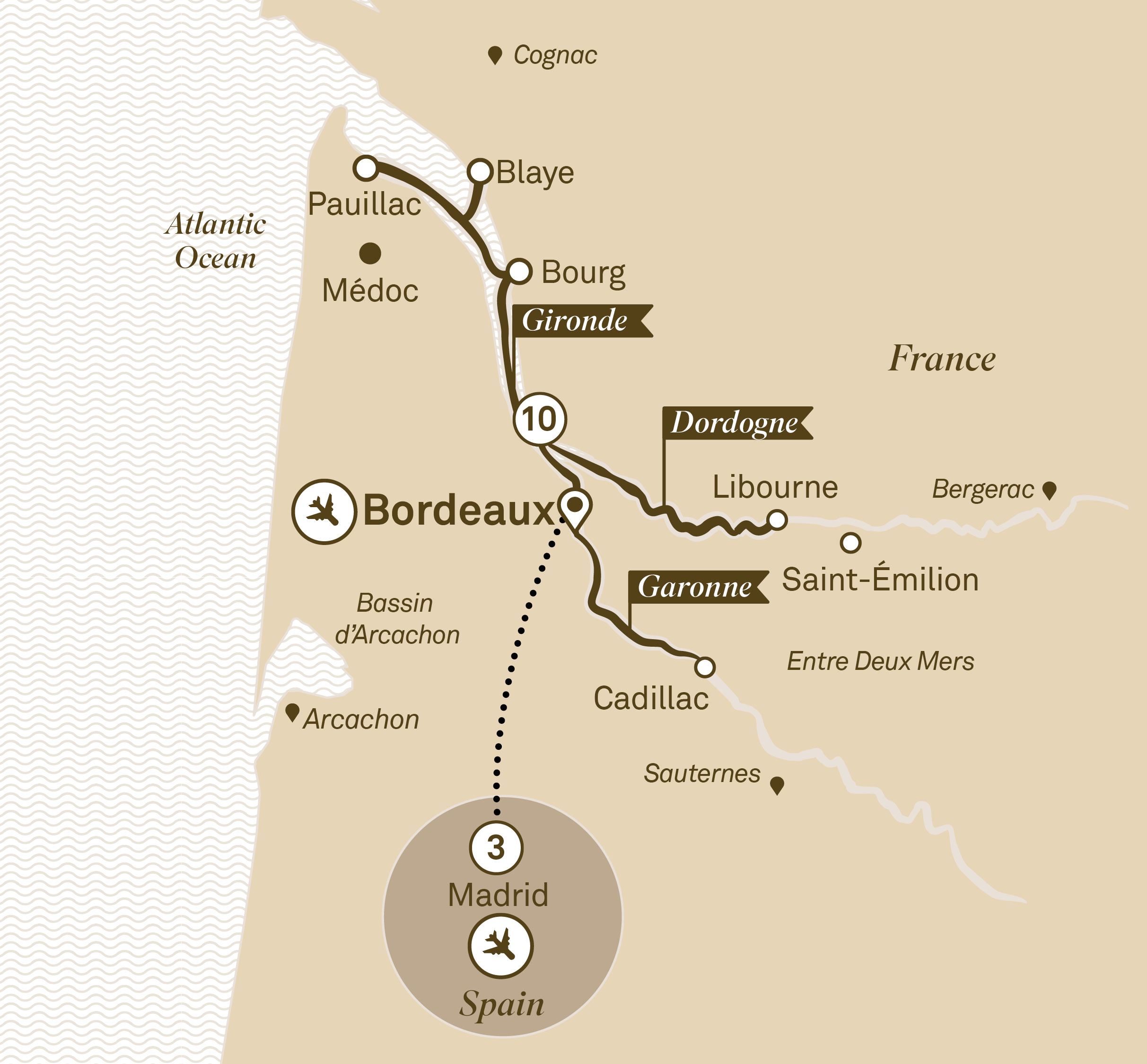Beautiful Bordeaux with Madrid Bordeaux to Madrid 2018