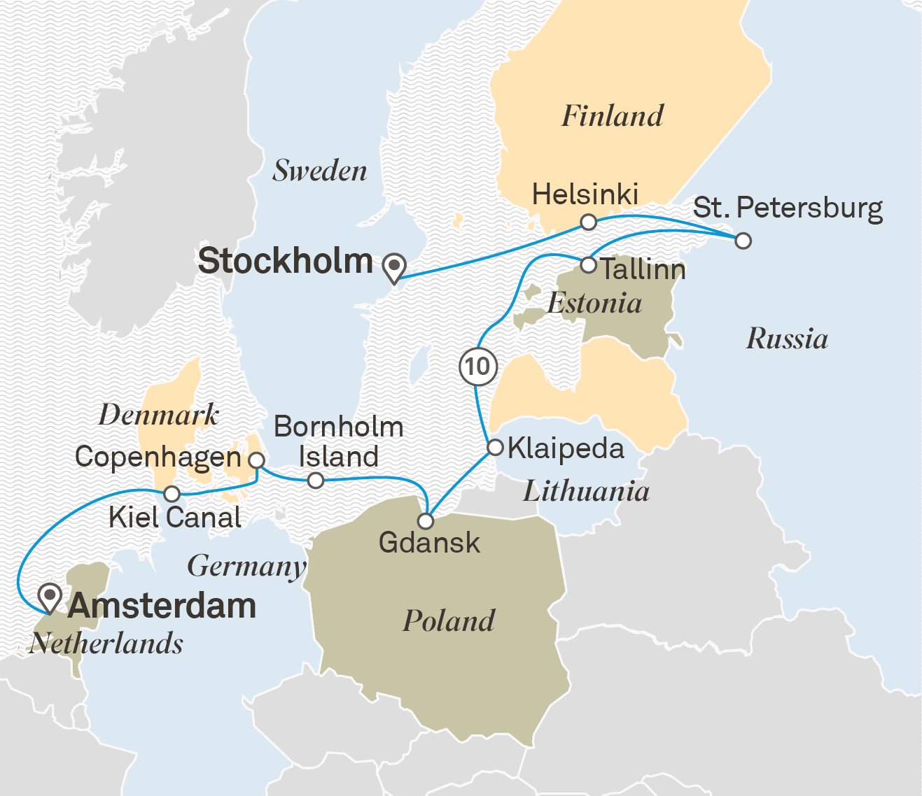 Baltic Tradewinds Route Amsterdam to Stockholm 2020